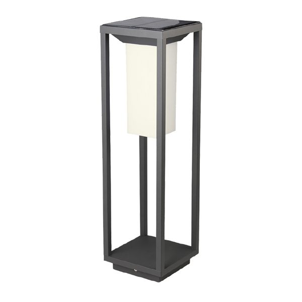 VT-66 2W LED SOLAR BOLLARD WITH SAMSUNG LED CHIP_COLORCODE-3000K GREY BODY